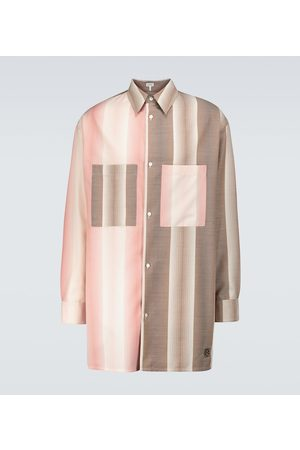 Loewe Oversized contrasting striped shirt
