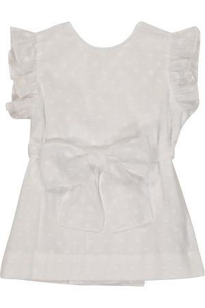 Il gufo Ruffled cotton top