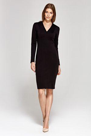 Nife Elegancka ołówkowa sukienka - czarna