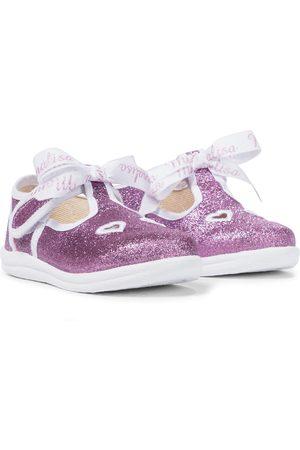 MONNALISA Glittered T-bar shoes