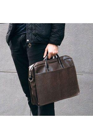 Solier Męska torba na ramię, torba na laptop S13 ciemnobrązowa - Brązowy