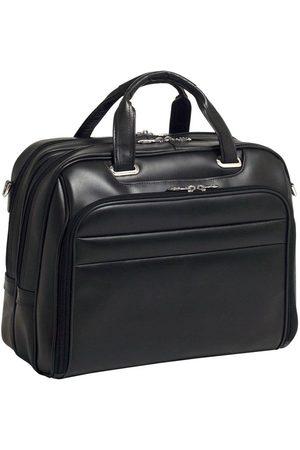 "Mcklein Męska torba skórzana na laptopa 17"" Springfield 86595 czarna - Czarny"