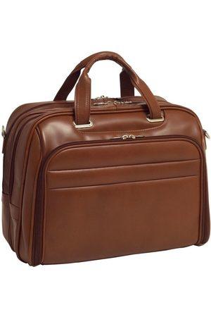 """Mcklein Męska torba skórzana na laptopa 17"""" Springfield 86594 brązowa - brązowy"""