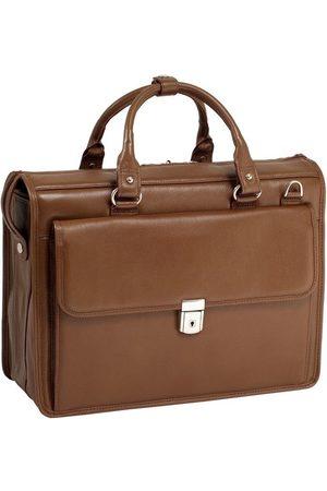 """Mcklein Teczka skórzana męska na laptopa 15,4"""" Gresham 15974 brązowa - brązowy"""