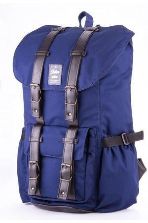 Solier Wodoodporny plecak męski SV01 granatowy - Granatowy