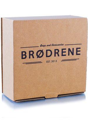 Brødrene Pasek męski skórzany Brodrene LB01 brązowy - brązowy