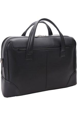 Mcklein Skórzana męska torba na laptopa Harpswell 88565 czarna - Czarny