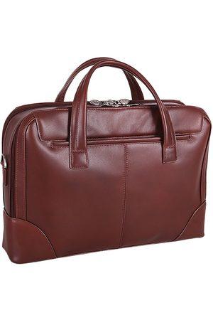 Mcklein Skórzana męska torba na laptopa Harpswell 88565 brązowa - brązowy