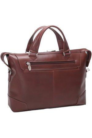 Mcklein Skórzana męska torba na laptopa Arcadia 88764 brązowa - brązowy
