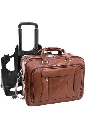 Mcklein Skórzana torba męska biznesowa 2w1 West Town 15704 - brązowy