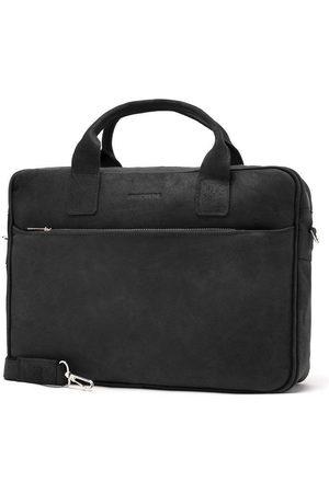 Brødrene Mężczyzna Walizki - Skórzana torba męska na ramię, laptop Brodrene BL12 czarny - Czarny