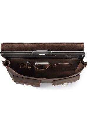 Paolo Peruzzi Włoska teczka torba męska skórzana vintage G-45-BR brązowa - Brązowy