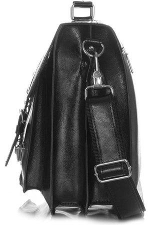 Paolo Peruzzi Mężczyzna Walizki - Skórzana teczka torba męska vintage czarna X-03-BL