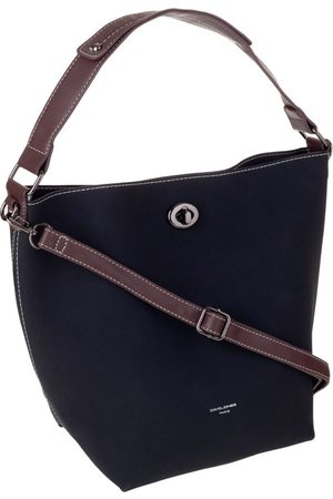 David Jones Kobieta Torby shopper - Torebka damska shopper bag 2w1 czarna cm5325a