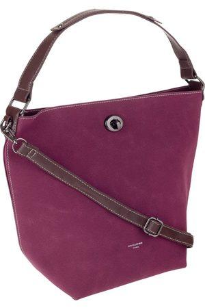 David Jones Torebka damska shopper bag 2w1 bordowa cm5325a - bordowy
