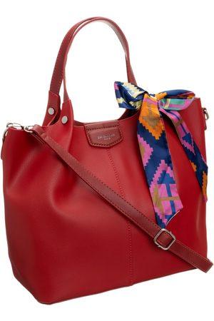 David Jones Kobieta Torby shopper - Torebka damska shopper bag czerwona cm5623