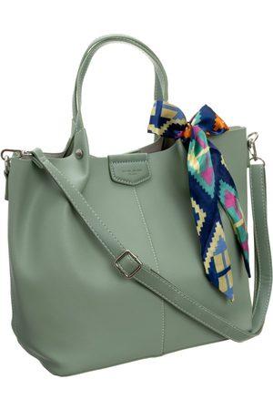 David Jones Torebka damska shopper bag zielona cm5623