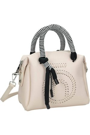 Nobo Kobieta Torebki - Kuferek damski torebka z logo beżowa i4460