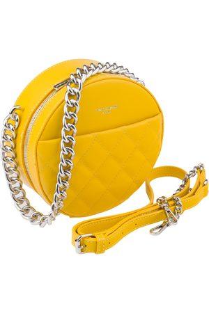David Jones Kobieta Listonoszka - Okrągła listonoszka pikowana żółta cm5703