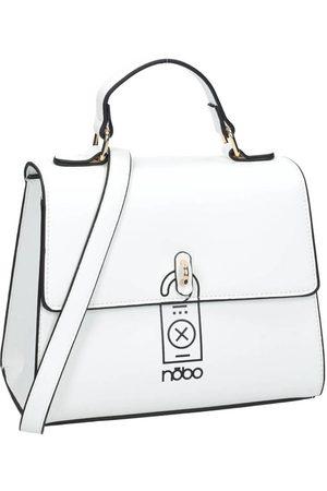 Nobo Kuferek damski torebka ekoskóra biała i5170