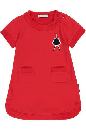 Moncler Baby cotton fleece dress