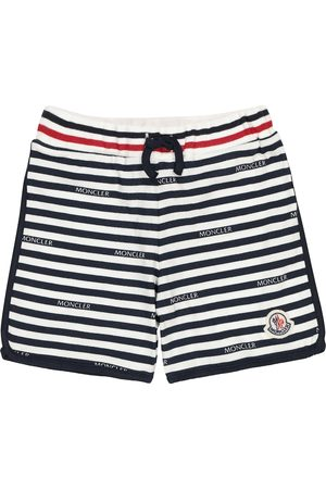 Moncler Striped cotton jersey shorts