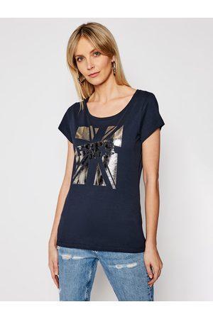 Pepe Jeans T-Shirt Alessa PL504795 Granatowy Regular Fit
