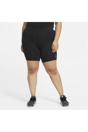 Nike Spodenki damskie do jazdy na rowerze ze średnim stanem Sportswear Essential (duże rozmiary) - Czerń