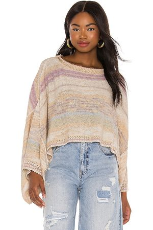 Free People Saturn Poncho in - Orange. Size S (also in L, M, XS).