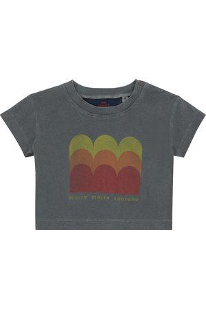 The Animals Observatory Z krótkim rękawem - Baby printed cotton jersey T-shirt