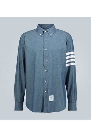 Thom Browne Mężczyzna Na co dzień - 4-Bar chambray shirt
