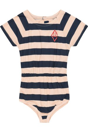 The Animals Observatory Rabbit striped cotton-jersey playsuit