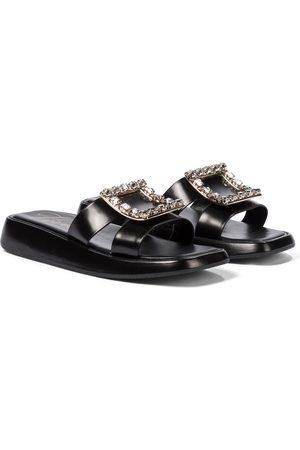 Roger Vivier Bikiviv' embellished leather platform sandals