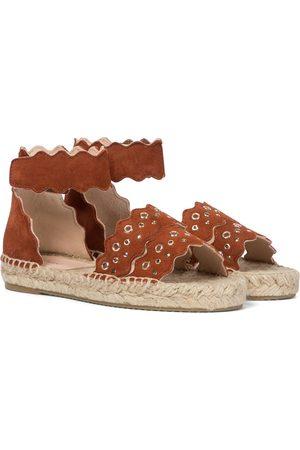 Chloé Kids Lauren suede espadrille sandals