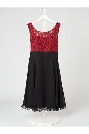 G.O.L. Sukienka z koronki i szyfonu z efektem błyszczącym