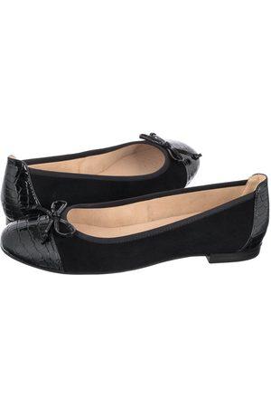 Caprice Kobieta Baleriny - Baleriny Czarne 9-22105-26 019 Black Comb (CP258-a)
