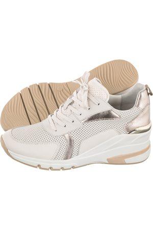 Caprice Sneakersy Białe 9-23722-26 405 Creme/Platin (CP260-a)