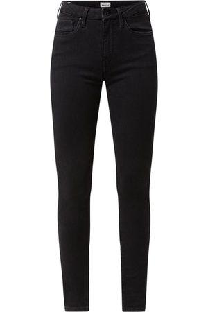 Pepe Jeans Jeansy z wysokim stanem o kroju skinny fit z dodatkiem streczu model 'Regent'