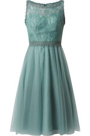 Luxuar Sukienka koktajlowa z siateczki i koronki