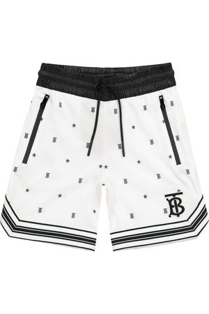 Burberry Logo technical-jersey shorts