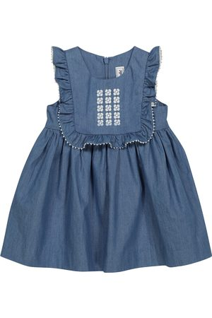 Tartine Et Chocolat Baby embroidered chambray dress