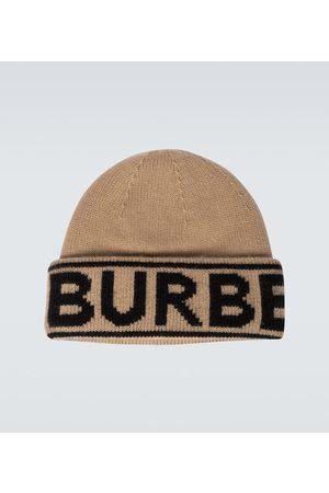 Burberry Czapki - Logo intarsia cashmere beanie