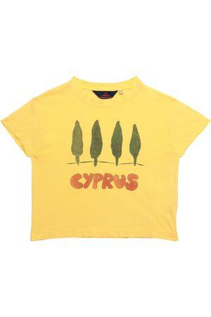 The Animals Observatory Dziewczynka Z krótkim rękawem - Rooster printed cotton T-shirt