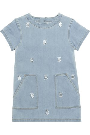 Burberry Logo embroidered denim dress