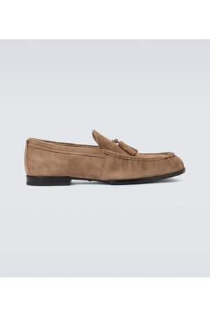 Tod's Suede tasseled loafers