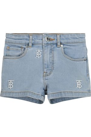 Burberry Logo embroidered denim shorts