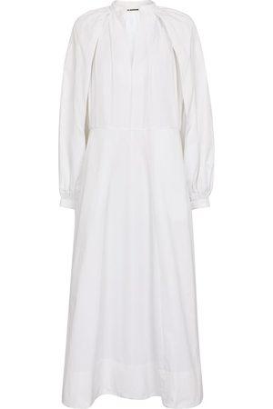 Jil Sander Cotton poplin midi dress