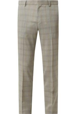 Tiger of Sweden Mężczyzna Spodnie eleganckie - Spodnie do garnituru o kroju regular fit z dodatkiem wełny model 'Tord'
