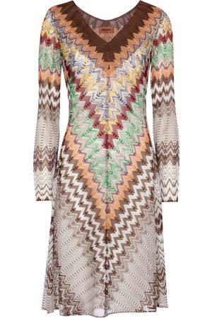 Missoni Kobieta Sukienki dzianinowe - Zig-zag knit minidress
