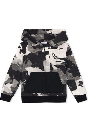 Dolce & Gabbana Chłopiec Bluzy z kapturem - Black